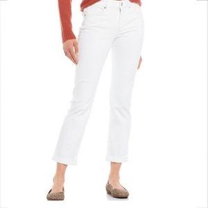 NYDJ Marilyn Straight leg optic white jeans 18W
